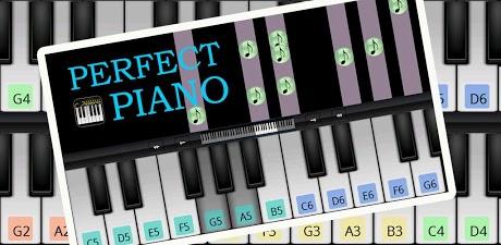پیانو در اندروید Piano Perfect